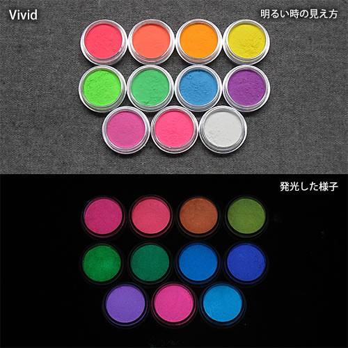 カラー蓄光パウダー_確認セット_Blue発光ベース