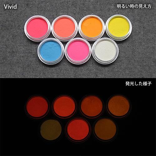 カラー蓄光パウダー_確認セット_Orange発光ベース