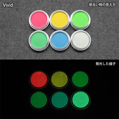 カラー蓄光パウダー_確認セット_Green発光ベース