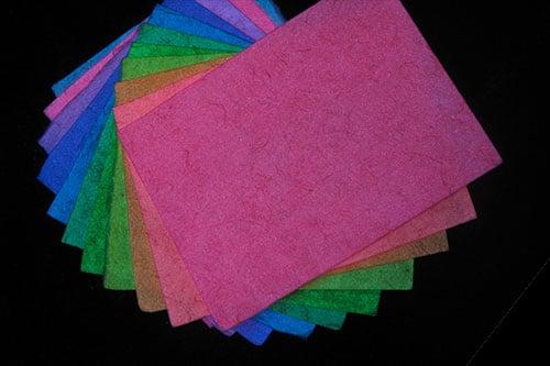 ルミックカラー蓄光和紙
