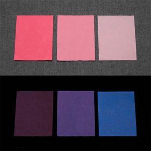 Blue発光ベース 0010【(レッド・ピンク着色)ルミックカラー小原蓄光和紙】