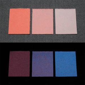 Blue発光ベース 0020【(オレンジ着色)ルミックカラー小原蓄光和紙】