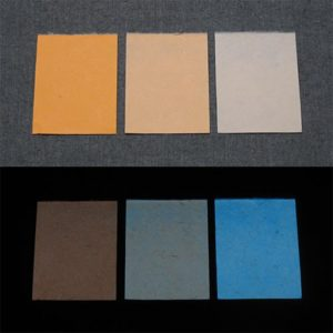Blue発光ベース 0030【(オレンジ着色)ルミックカラー小原蓄光和紙】