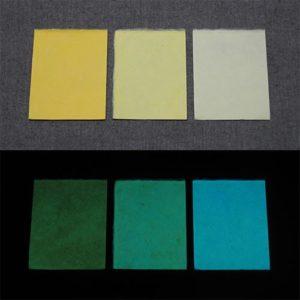 Blue発光ベース 0040【(イエロー着色)ルミックカラー小原蓄光和紙】