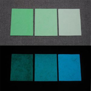 Blue発光ベース 0060【(グリーン着色)ルミックカラー小原蓄光和紙】