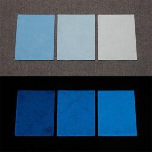 Blue発光ベース 0070【(ブルー着色)ルミックカラー小原蓄光和紙】