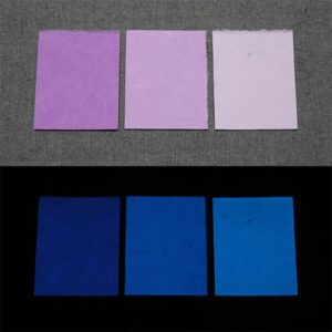 Blue発光ベース 0080【(パープル着色)ルミックカラー小原蓄光和紙】
