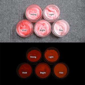 Orange発光ベース 0015【(レッド・ピンク着色)ルミックカラー繊維スクリーンプリント用蓄光インク】