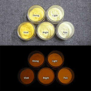 Orange発光ベース 0040【(イエロー着色)ルミックカラー繊維スクリーンプリント用蓄光インク】