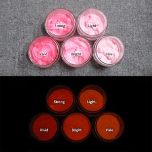 Orange発光ベース 0105【(レッド・ピンク着色)ルミックカラー繊維スクリーンプリント用蓄光インク】