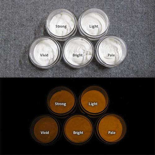 Orange発光ベース 0110【(ホワイト着色)ルミックカラー繊維スクリーンプリント用蓄光インク】