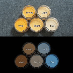 Blue発光ベース 0030【(オレンジ着色)ルミックカラー繊維スクリーンプリント用蓄光インク】