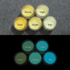 Blue発光ベース 0040【(イエロー着色)ルミックカラー繊維スクリーンプリント用蓄光インク】