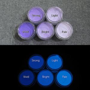 Blue発光ベース 0075【(パープル着色)ルミックカラー繊維スクリーンプリント用蓄光インク】