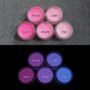 Blue発光ベース 0095【(パープル・ピンク着色)ルミックカラー繊維スクリーンプリント用蓄光インク】