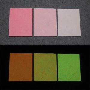 Green発光ベース 0010【(レッド・ピンク着色)ルミックカラー小原蓄光和紙】