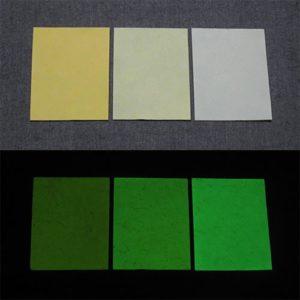 Green発光ベース 0040【(イエロー着色)ルミックカラー小原蓄光和紙】