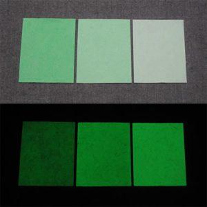 Green発光ベース 0060【(グリーン着色)ルミックカラー小原蓄光和紙】
