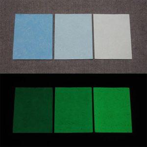 Green発光ベース 0070【(ブルー着色)ルミックカラー小原蓄光和紙】