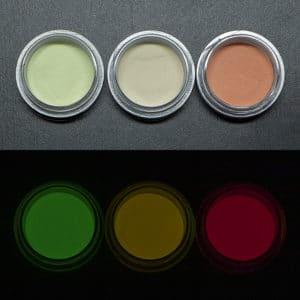ベーシック(硫化亜鉛タイプ)3点セット【ルミックカラー蓄光パウダー】