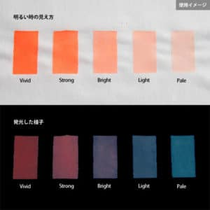 Blue発光ベース 0020【(オレンジ着色)ルミックカラー蓄光パウダー】
