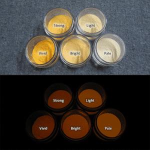 Orange発光ベース 0035【(イエロー着色)ルミックカラー蓄光パウダー】