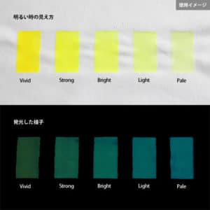 Blue発光ベース 0040【(イエロー着色)ルミックカラー蓄光パウダー】