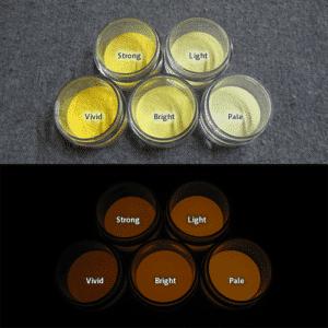 Orange発光ベース 0040【(イエロー着色)ルミックカラー蓄光パウダー】