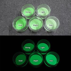 Green発光ベース 0055【(グリーン着色)ルミックカラー蓄光パウダー】
