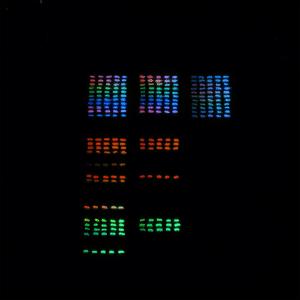 発光確認シート(マルチカラー)【ルミックカラー蓄光サンプル】