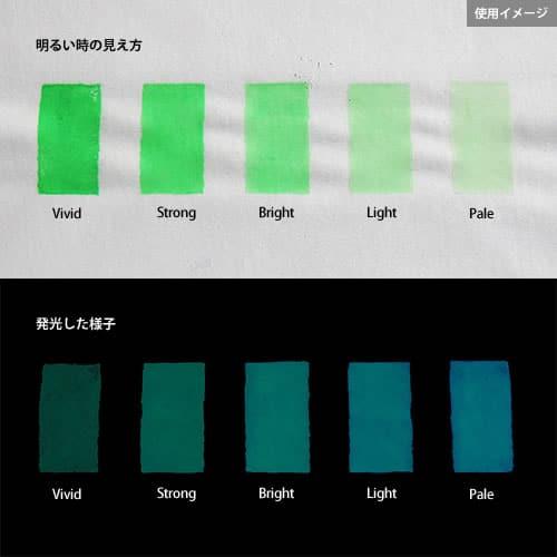Blue発光ベース 0060【(グリーン着色)ルミックカラー蓄光パウダー】