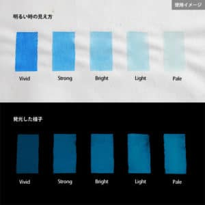 Blue発光ベース 0070【(ブルー着色)ルミックカラー蓄光パウダー】