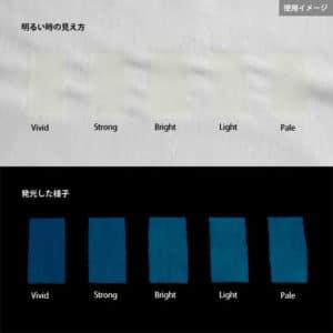 Blue発光ベース 0110【(ホワイト着色)ルミックカラー蓄光パウダー】