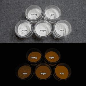Orange発光ベース 0110【(ホワイト着色)ルミックカラー蓄光パウダー】