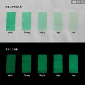 Green発光ベース 0065【(グリーン着色)ルミックカラー蓄光パウダー】