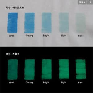 Green発光ベース 0070【(ブルー着色)ルミックカラー蓄光パウダー】