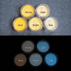 Blue発光ベース 0035【(イエロー着色)ルミックカラー蓄光パウダー】