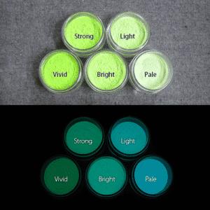 Blue発光ベース 0045【(グリーン着色)ルミックカラー蓄光パウダー】