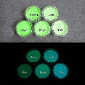 Blue発光ベース 0050【(グリーン着色)ルミックカラー蓄光パウダー】