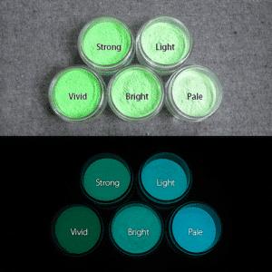 Blue発光ベース 0055【(グリーン着色)ルミックカラー蓄光パウダー】
