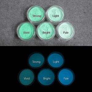 Blue発光ベース 0065【(グリーン着色)ルミックカラー蓄光パウダー】