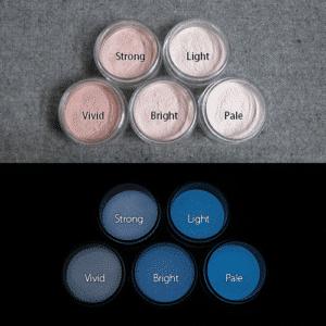 Blue発光ベース 0245【(モカブラウン着色)ルミックカラー蓄光パウダー】